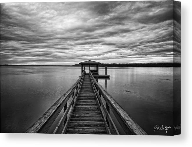 Beaufort County Canvas Print featuring the photograph Lowcountry Long Dock by Phill Doherty