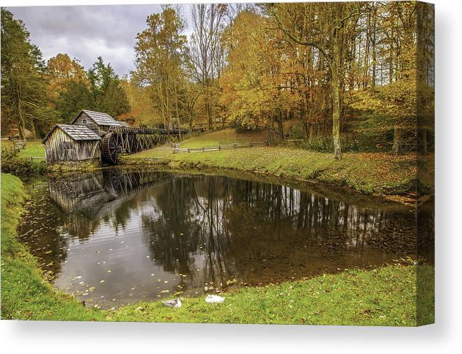 Blueridgeparkway Canvas Print featuring the photograph Mabry Mill by Bobby Hicks