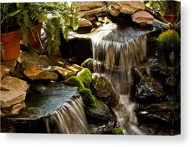 Mahoney Falls Canvas Print featuring the photograph Mahoney Falls 2 by Dennis Coates