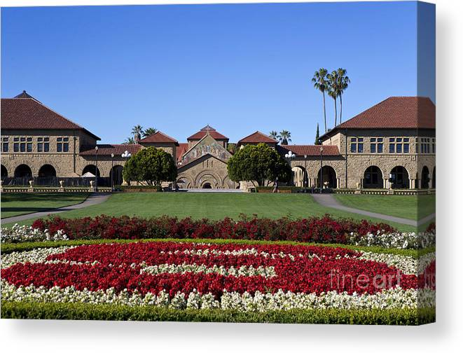 Stanford University Canvas Print featuring the photograph Main Quad Stanford California by Jason O Watson