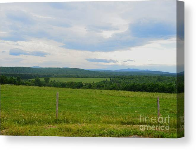 Maine Canvas Print featuring the photograph Maine Farmland by Meandering Photography