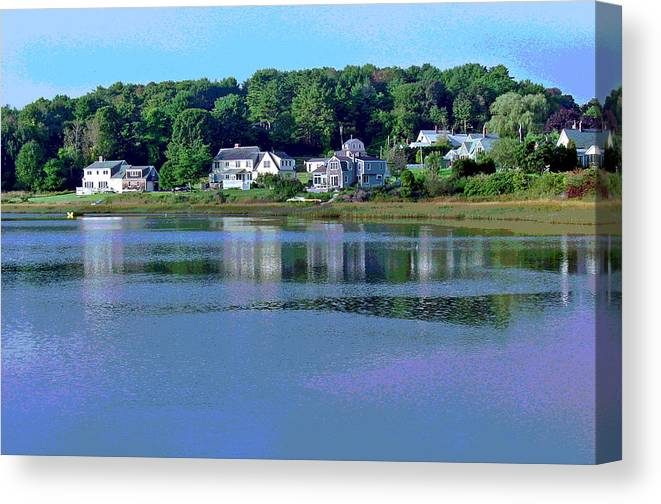 Maine Canvas Print featuring the photograph Maine Lakefront by Suzanne Gaff