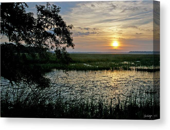 Sunrise Canvas Print featuring the photograph Marsh View by Phill Doherty