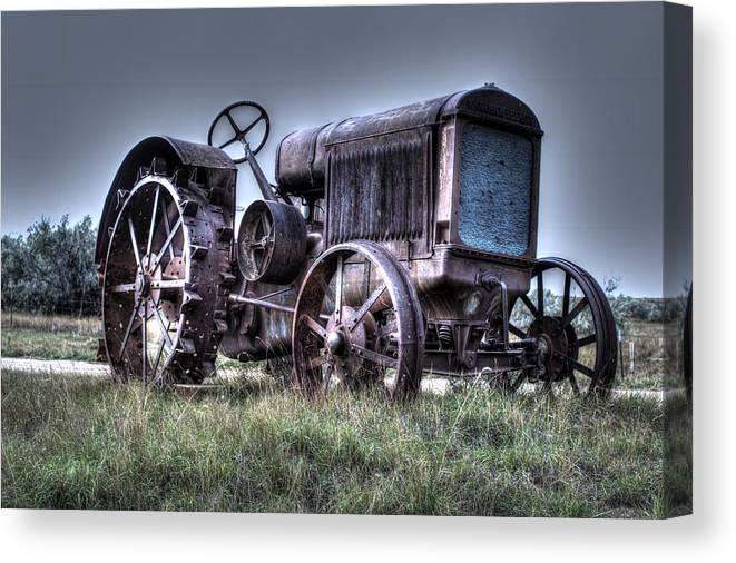 Hdr Canvas Print featuring the photograph Mccormick-deering Tractor by Scott Carlton