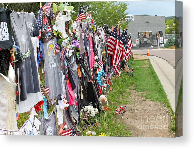 Heros Canvas Print featuring the photograph Memorial 2 by Pamela Walrath