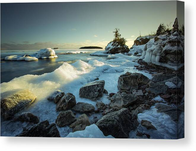 Bay Canvas Print featuring the photograph Middlebrun Bay Sunset II by Jakub Sisak
