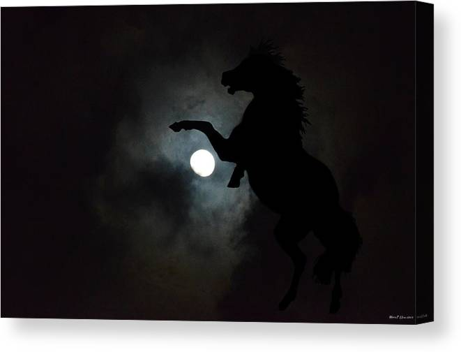Midnight's Clarion Call Canvas Print featuring the digital art Midnight's Clarion Call by Maria Urso