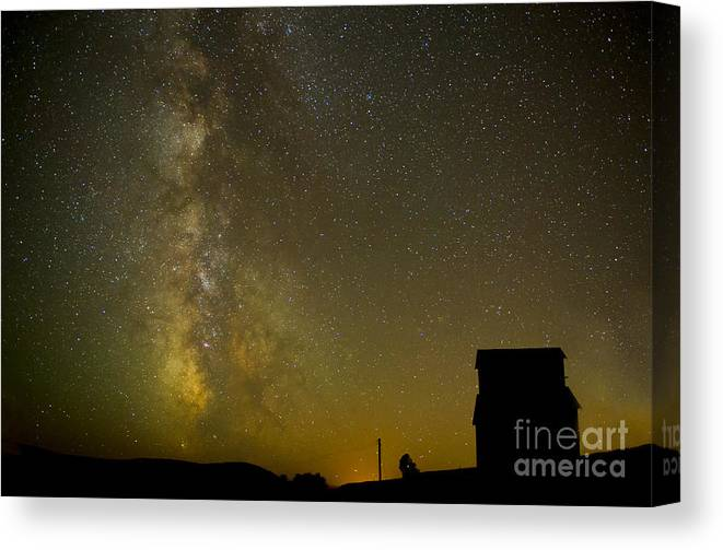 Milky Way Canvas Print featuring the photograph Milky Way Lights The Way. by Jackie Follett