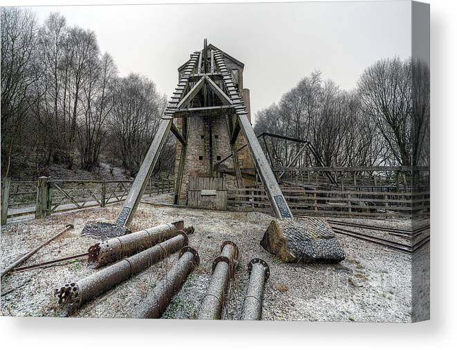 1296 Canvas Print featuring the photograph Minera Lead Mines by Adrian Evans