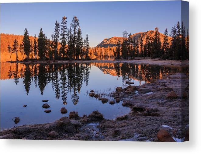 Gigimarie Canvas Print featuring the photograph Mirror Lake Dawn by Gina Herbert