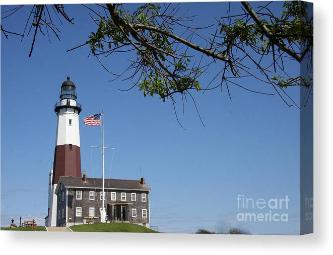 Montauk Light Canvas Print featuring the photograph Montauk Point Lighthouse by Christiane Schulze Art And Photography