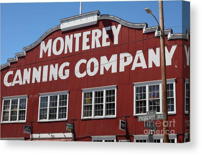 Monterey Canvas Print featuring the photograph Monterey Cannery Row California 5d25039 by Wingsdomain Art and Photography