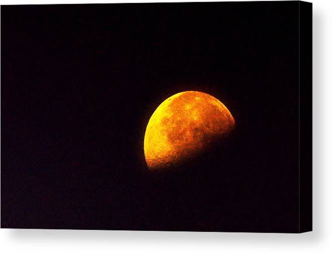 Moon Canvas Print featuring the photograph Moon Rise by Phillip Garcia