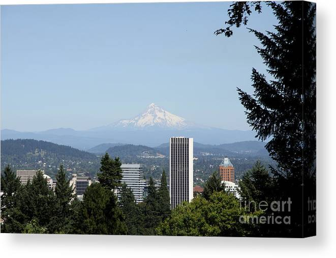 Portland Canvas Print featuring the photograph Mount Hood View by Christiane Schulze Art And Photography