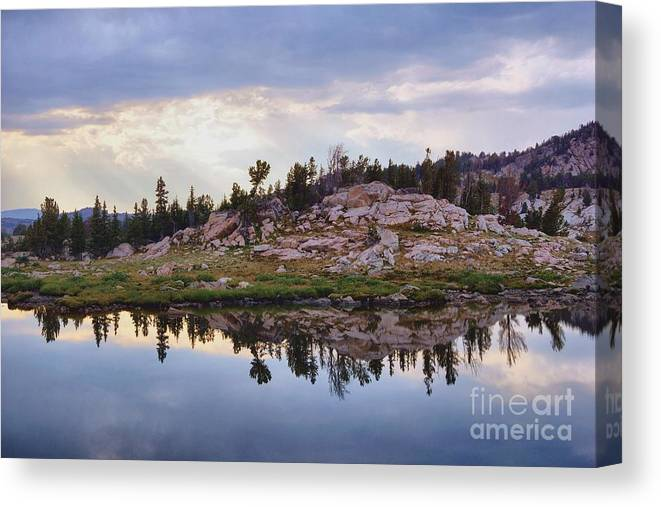 Nature Canvas Print featuring the photograph Mountain Mirror View by Daniel Dodd