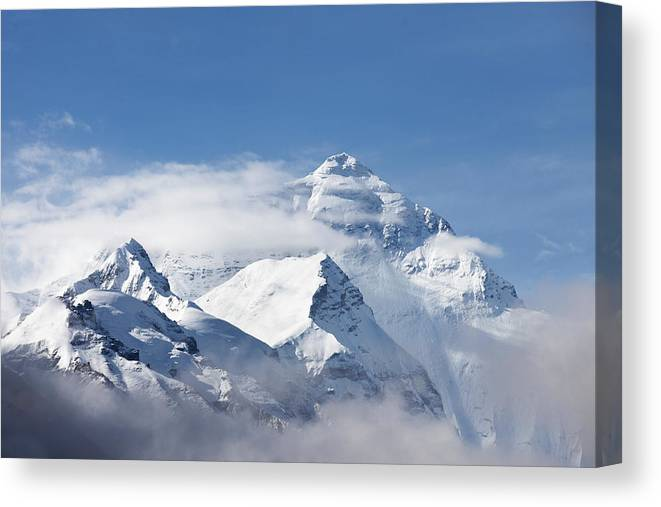 Chinese Culture Canvas Print featuring the photograph Mt Everest, From Mt Everest Base Camp by Sean Caffrey