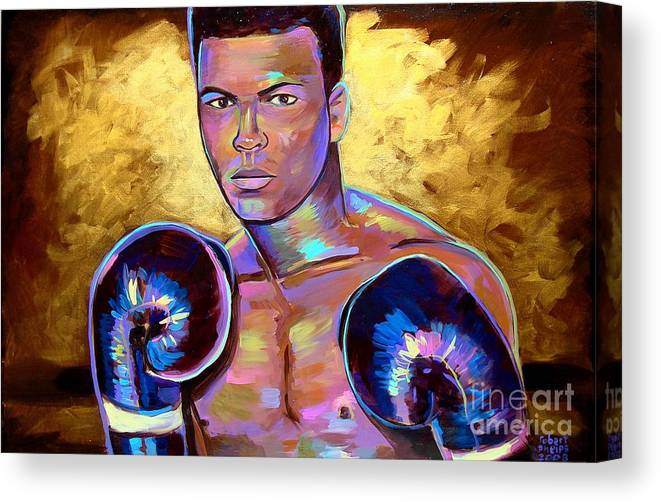 Muhammad Ali Canvas Print featuring the painting Muhammad Ali by Robert Phelps