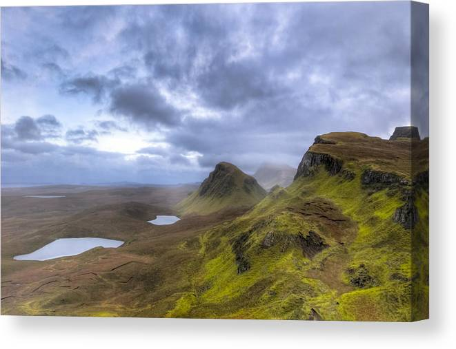 Isle Of Skye Canvas Print featuring the photograph Mystical Landscape On Skye by Mark E Tisdale