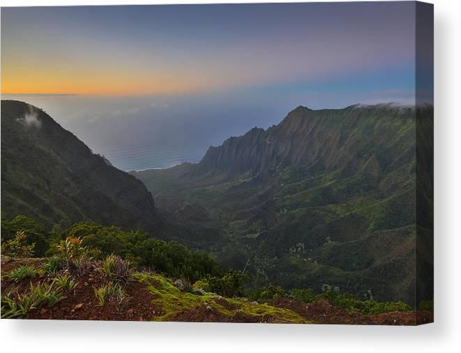 Sam Amato Canvas Print featuring the photograph Napali Coastline Kauai by Sam Amato