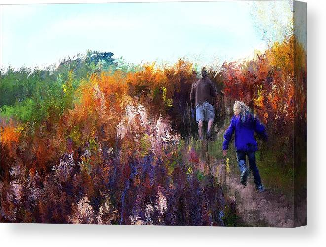 Canvas Print featuring the mixed media Nature Walk by Terence Morrissey