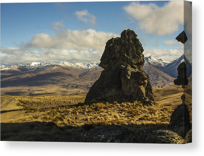 Landscape Canvas Print featuring the photograph Nevis Rock by Tony Bennett