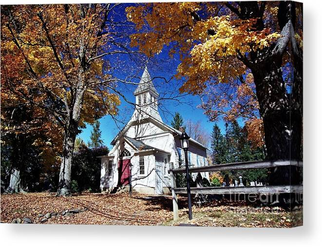 New England Scenes Canvas Print featuring the photograph New England In New Jersey by Allen Beatty