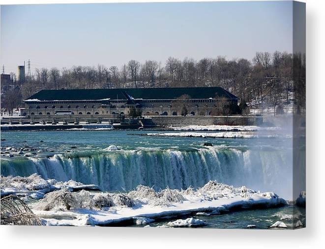Niagara Falls Canvas Print featuring the photograph Nikola Tesla Lab by Eric Swan