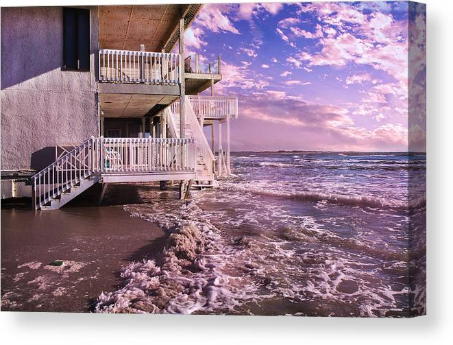 Topsail Canvas Print featuring the photograph North Topsail Beach Tides That Tell by Betsy Knapp