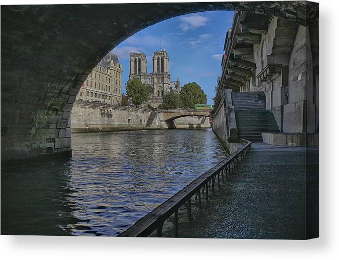 Travel Photography Canvas Print featuring the photograph Notre Dame Cathedral by Gary Hall