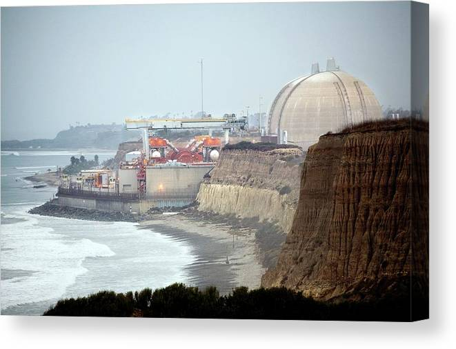California Canvas Print featuring the photograph Nuclear Generating Station by Peter Menzel/science Photo Library