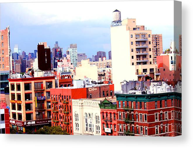 Nyc Canvas Print featuring the photograph Nyc Bridge View by Adam Barone
