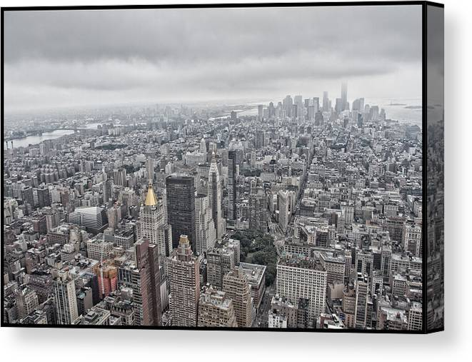 nyc from above canvas print canvas art by jason wolters