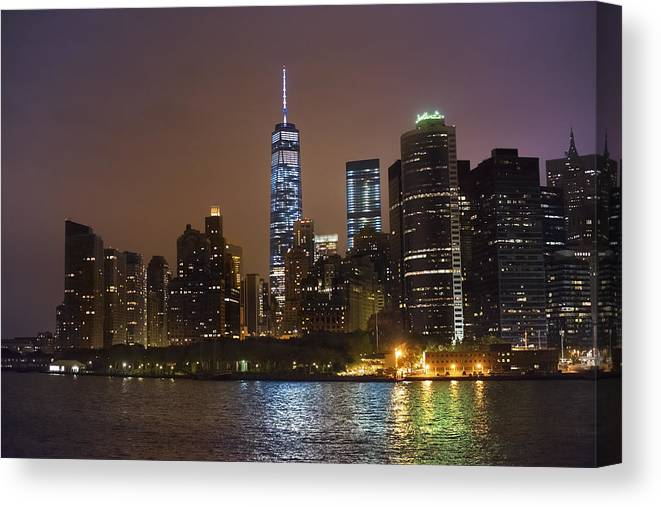 Nyc Canvas Print featuring the photograph Nyc Skyline by Keith Jensen