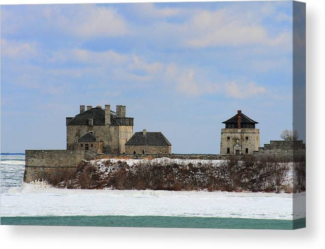 Architecture Canvas Print featuring the photograph Old Fort Niagara by Michael Allen