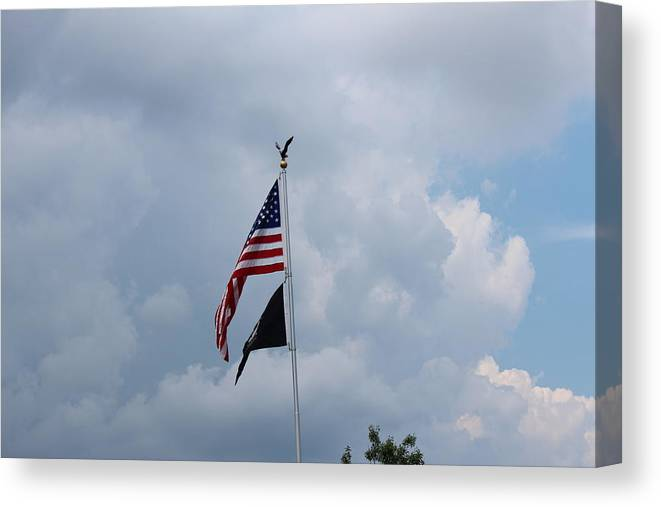 Canvas Print featuring the photograph Old Glory by R A W M