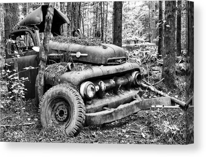 Car Canvas Print featuring the photograph Old Soldier by Robert Hainer