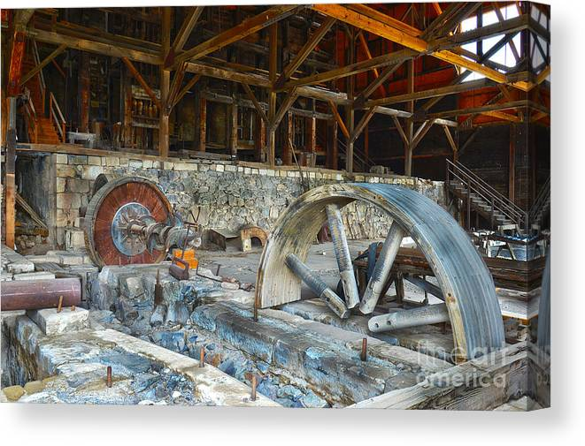 Canvas Print featuring the photograph Old Stamp Mill In Berlin Nv by Michael R Erwine