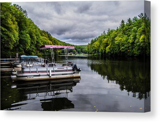 Pontoon Canvas Print featuring the photograph On The Pontoon by Anthony Thomas