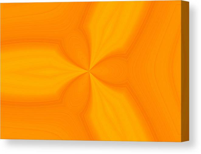 Lemon Orange Abstract Canvas Print featuring the digital art Orange And Lemon Squeeze by T T