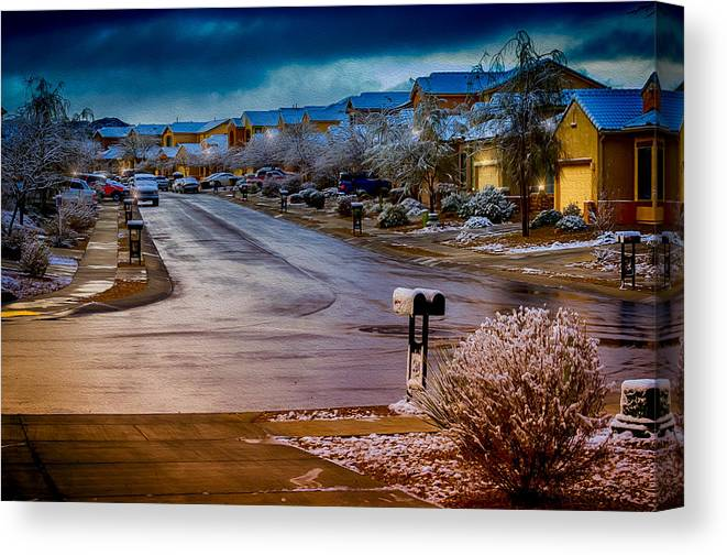 Myhaver Photography Canvas Print featuring the photograph Oro Valley Winter No.54 by Mark Myhaver