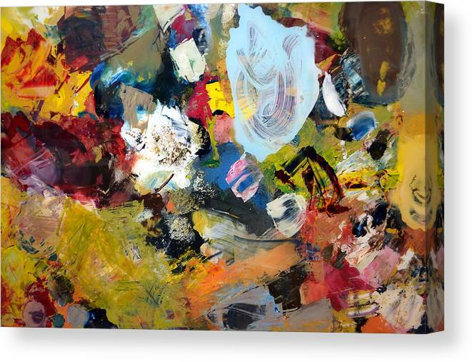 Rustic Canvas Print featuring the painting Palette Abstract by Michelle Calkins