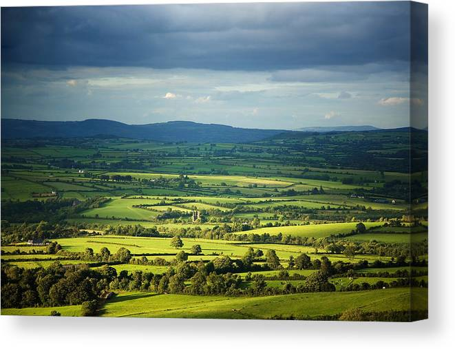 Photography Canvas Print featuring the photograph Pastoral Fields, Near Clonea, County by Panoramic Images