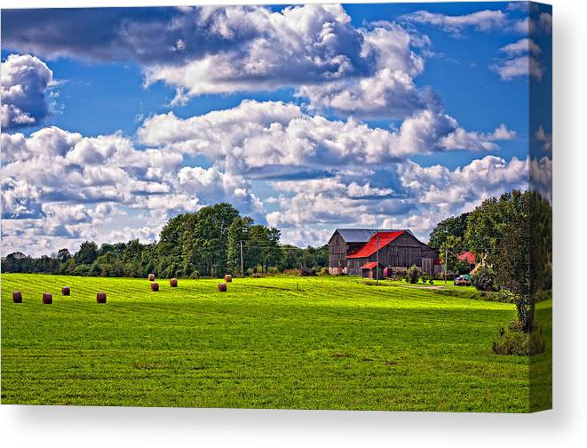 Landscape Canvas Print featuring the photograph Pastoral Ontario by Steve Harrington