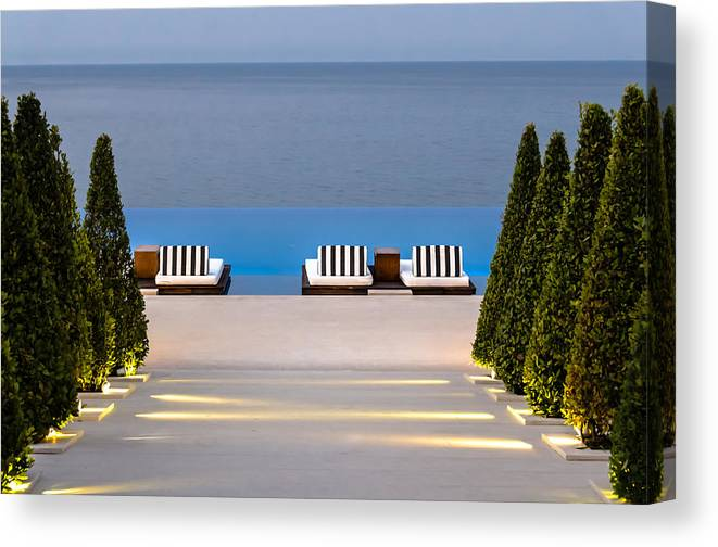 Swimming Pool Canvas Print featuring the photograph Path Leading To Heaven by Sotiris Filippou