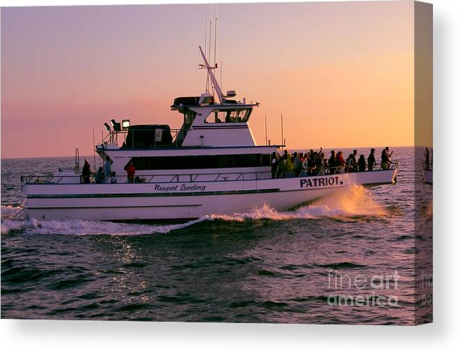 Sunset Canvas Print featuring the photograph Patriot On A Mission by Loretta Jean Photography