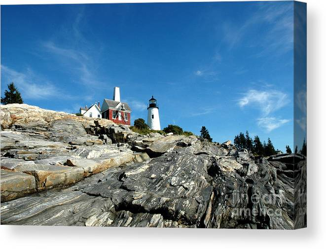 Maine Canvas Print featuring the photograph Pemaquid Point by Alan Russo