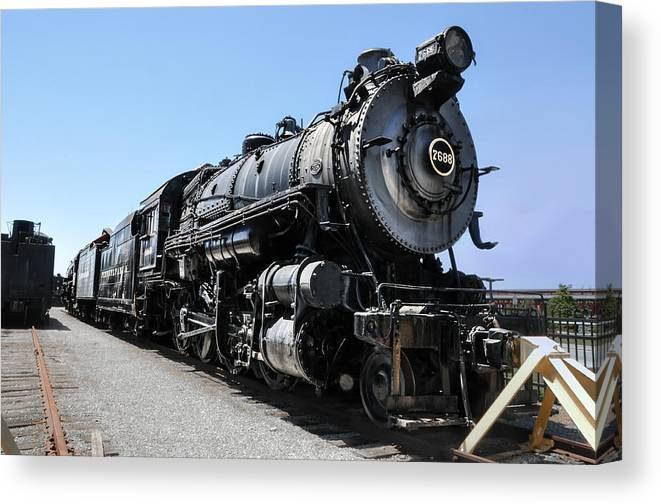 Steam Canvas Print featuring the photograph Pennsylvania Railroad H8 by Bill Cannon