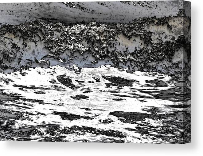 Froth Canvas Print featuring the photograph Pewter Martian Sea by James Potts