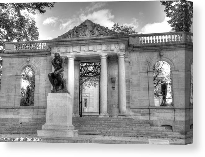 Rodin Museum Canvas Print featuring the photograph Philadelphia-rodin Museum by Constantin Raducan