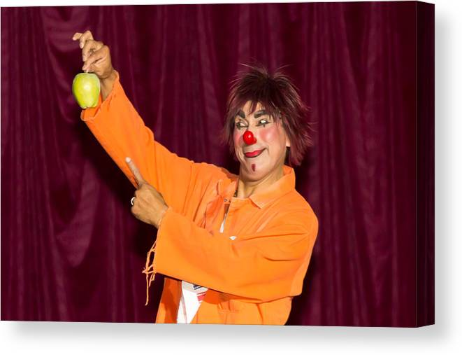 Circo Caballero Canvas Print featuring the photograph Pinky Has A Apple by Richard Balison